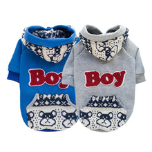 Load image into Gallery viewer, Dog Fleece Hoodie Sweatshirt Jacket Coat Small Dog Clothes Costume