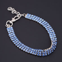 Load image into Gallery viewer, Doggy Bling Rhinestone Dog Collar Fashion Jewelry Crystal Adjustable Necklace for Small to Medium Dogs