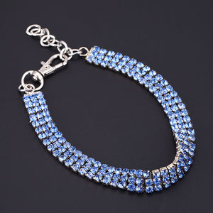 Doggy Bling Rhinestone Dog Collar Fashion Jewelry Crystal Adjustable Necklace for Small to Medium Dogs