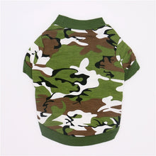 Load image into Gallery viewer, Dog cotton camouflage pullover dog Teddy dog clothing shirt