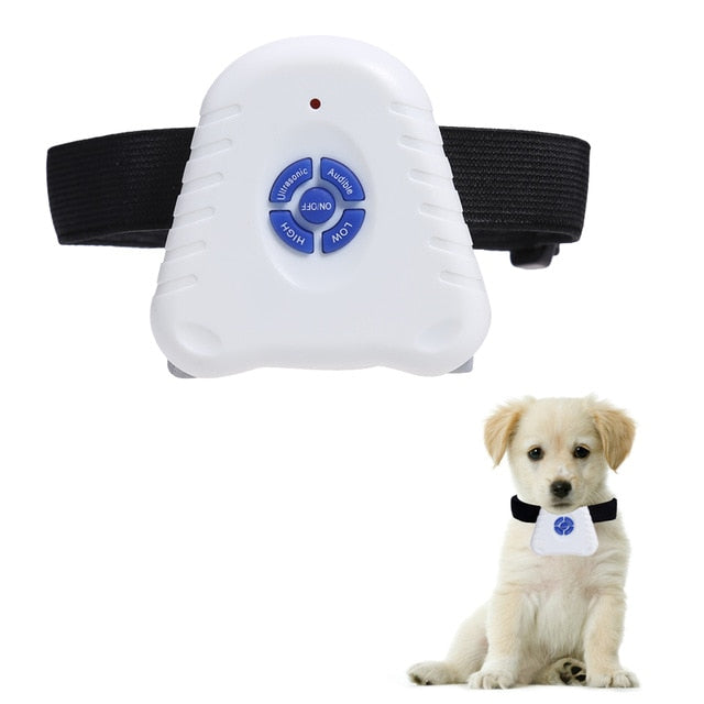 Ultrasonic Dog Anti Barking Control Collars Adjustable Stretch Pets Dog Training Pets Dog Supplies