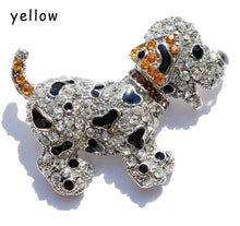 Load image into Gallery viewer, Cute Rhinestone Dog Brooch pins, Cute crystal brooches for Dog Lovers jewelry