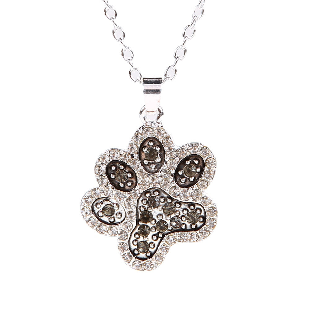 Elegant Classy Necklace Paw Print pendant for the Dog Lover