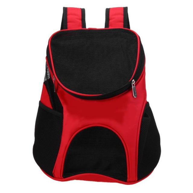 Breathable Outdoor Dog Carrier Mesh Backpack Bags Portable Travel Oxford Cloth Bag Outdoor Pet Packs