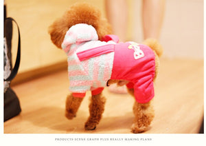 Dog Warm Coral Fleece Cotton-padded Clothes
