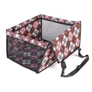 Portable Oxford cloth Pet Car Seat Folding Travel Booster Bag Safety Carrier Belt For Doggy & Puppy