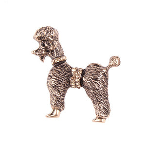 New Special Design Vintage Color Rhinestone Cute Dog Brooch Pin Women Fashion Statement Jewelry Brooch for Dog Lovers