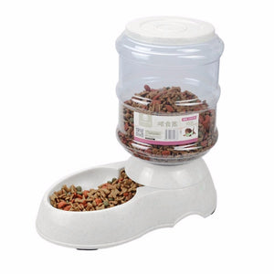 3.5L Pet Dog Automatic Food and Water Dispenser Feeder Feeding Bowls For Dogs Large Capacity