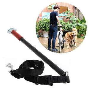 Doggy Bicycle Leash, Safe Control Easy Soft No Pull Tug Free Safety Leash For Dogs