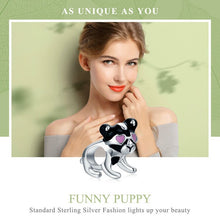 Load image into Gallery viewer, Authentic 100% 925 Sterling Silver Doggy Charm fit  Bracelet & Necklaces Jewelry
