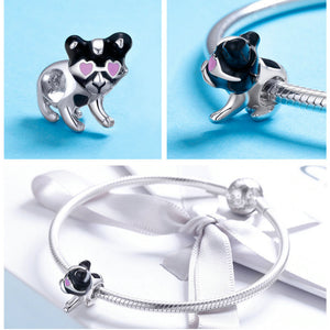 Authentic 100% 925 Sterling Silver Doggy Charm fit  Bracelet & Necklaces Jewelry