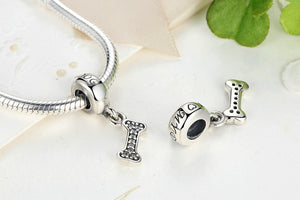 "Classic 925 Sterling Silver ""I Love My Dog"",Bone Pendant For Bracelet & Necklace"
