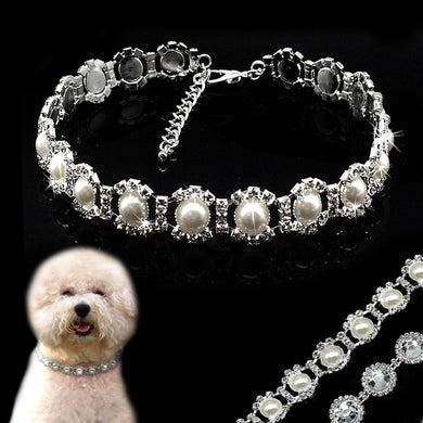 Bling Rhinestone Dog Collar Crystal Diamond, Pearl Dog Collars  Jewelry Pendant