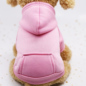 Autumn and winter warm pocket sweater dog hoodies clothes sports pet clothes  XS-XXL