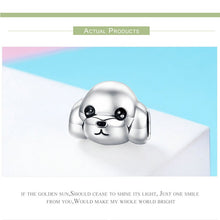 Load image into Gallery viewer, 100% 925 Sterling Silver Adorable Animal Poodle Dog Charm for Bracelets & Necklaces