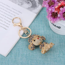 Load image into Gallery viewer, Cute Lovely Pet Dog Bling Pendent Crystal Keychain