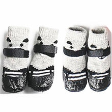 Load image into Gallery viewer, 4pcs/set Cotton Rubber Pet Dog Socks Waterproof Non-slip Rain Snow Boots Dog Shoes Socks Footwear