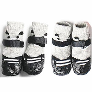 4pcs/set Cotton Rubber Pet Dog Socks Waterproof Non-slip Rain Snow Boots Dog Shoes Socks Footwear