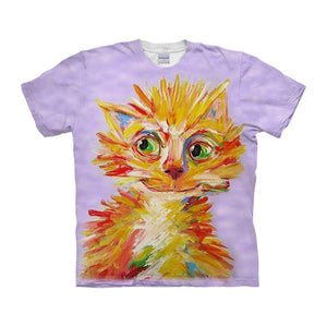 Dog t shirt 3-D t-shirt Summer Tee Prints Top Short Sleeve