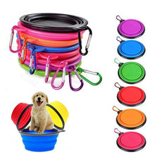 Load image into Gallery viewer, 1pcs Travel Dog Bowl Portable Outdoor Travel Dog Bowl Silicone Folding Bowls Food Drinking Water Pet Product Bowls