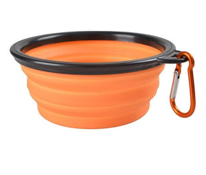 1pcs Travel Dog Bowl Portable Outdoor Travel Dog Bowl Silicone Folding Bowls Food Drinking Water Pet Product Bowls