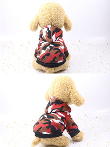 Very Comfortable warm camouflage hoodies dog coat, jackets