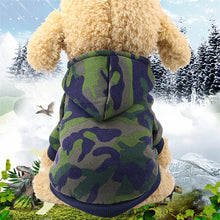 Load image into Gallery viewer, Very Comfortable warm camouflage hoodies dog coat, jackets