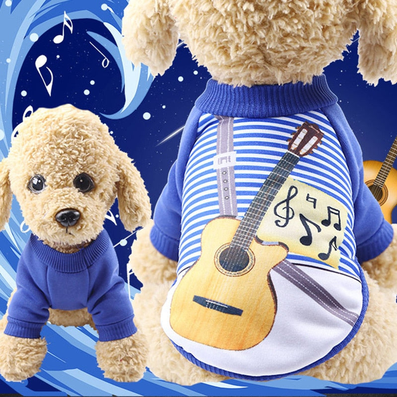 Cute Guitarist uniforms Classic Dog Hoodies