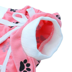 Dog Surgical Clothes For Dogs Cotton Medical Protect After Surgery Paw Printed Dog Recovery Clothes XS-S-M-L
