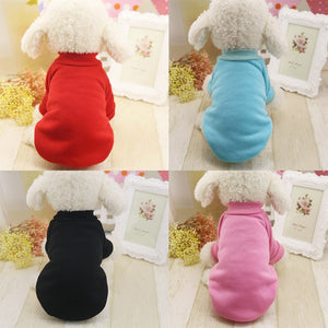Doggy hoodie solid color sweater, warm doggy clothes