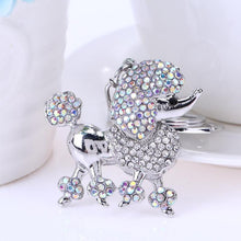 Load image into Gallery viewer, Crystal Rhinestone Key Chains;  Poodle, Dachshund, cat, Elephant, Pig, Squirrel