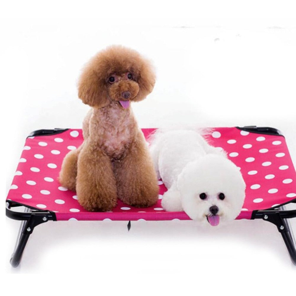 Elevated Dog Bed Portable Raised Pet Cot Waterproof Breathable Mat No-Slip Feet Durable Oxford Fabric Indoor or Outdoor Use