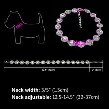 Load image into Gallery viewer, Bling Rhinestone Dog Collar Crystal Diamond, Pearl Dog Collars  Jewelry Pendant