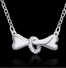 Load image into Gallery viewer, Fashion Silver Dog Bone Necklace Pendant With Chain,  For Women, Great Gift