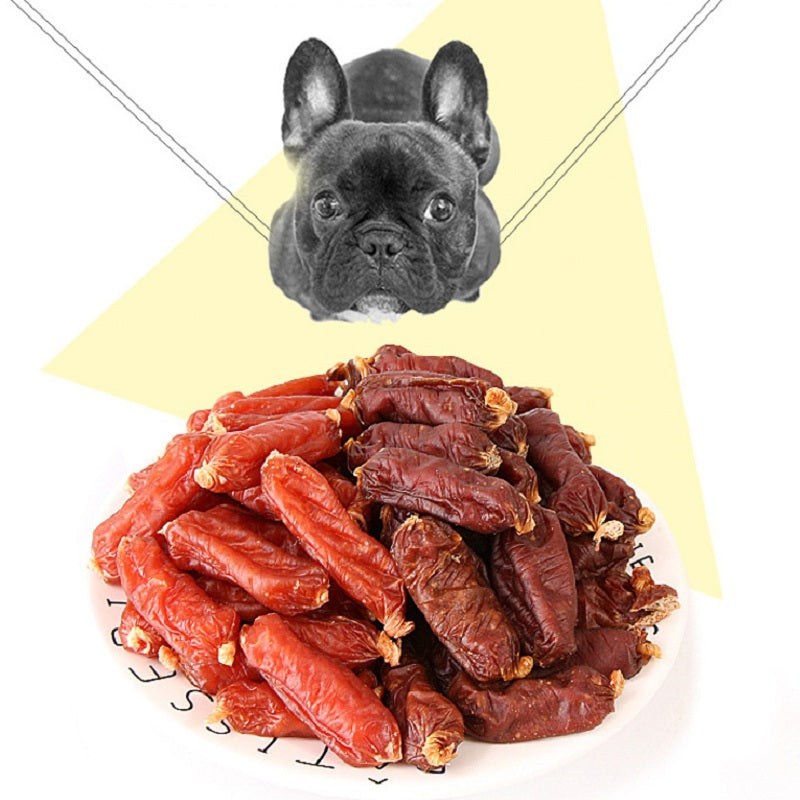 Dog snack low salt  sausage Chicken or Beef flavors Doggy Treats dog food nutrition