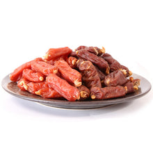 Load image into Gallery viewer, Dog snack low salt  sausage Chicken or Beef flavors Doggy Treats dog food nutrition