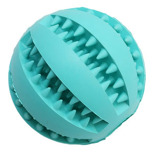 Dog Toys Bite Resistant Toy Ball for Pet Dog Food Treat Feeder Teeth Cleaning Ball