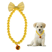 Load image into Gallery viewer, Dog Collars Jewelry Acrylic Beads Necklace Collars With Bells pet Product  dog collar