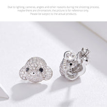 Load image into Gallery viewer, Poodle Dog Stud Earrings 925 Sterling Silver