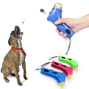 Dog Snack Catapult Launcher Pet Toys Dog Treat Launcher Snack Food Feeder Catapult Pet Interactive Training Toys