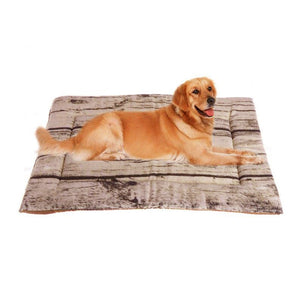 Soft Tree Pattern  Dog Cushion Bed Portable Soft Warm Skin-Friendly Fleece Soft  Bed