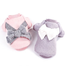 Load image into Gallery viewer, XS-XL Pet Dog Knitted Sweater shirt Cute Bow Winter Fleece Cloths Doggy Coat/jacket