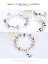 Load image into Gallery viewer, Cute Pink Dog 925-Silver Charm Bracelet for Dog Lovers