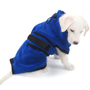 Dog Robe/Towel Super absorbent dog bathrobe Superfine fiber towel quick dry bath towel