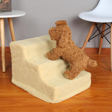 Load image into Gallery viewer, 3 Layers Dog Stairs Ramp Ladder for Small doggy  Bed Supplies