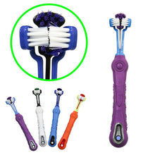 Load image into Gallery viewer, Dog Toothbrush Three-way cleaning Oral care Bad Breath Tartar Dental Care control