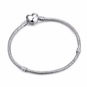 High Qualit Silver Snake Chain Link Bracelet  Charm  Bracelet for Women  Jewelry Making