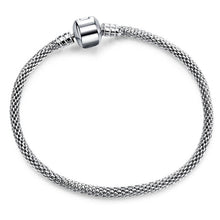 Load image into Gallery viewer, High Qualit Silver Snake Chain Link Bracelet  Charm  Bracelet for Women  Jewelry Making
