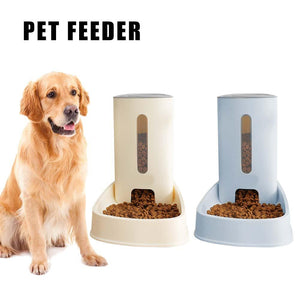 3.8L Automatic Doggy Feeder Snack Feeding Device 3.8ml Large Capacity Dog Food Bowl Home Pet Supplies