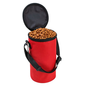 Dog portable Treat/Food container Doggy Snack Portable collapsible foldable Dog Food container